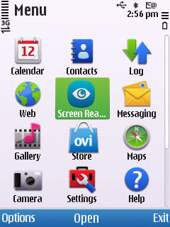 Screenshot Nokia screen reader 2